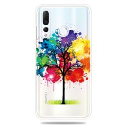 Oil Painting Tree Clear Varnish Soft Phone Back Cover for Huawei nova 4