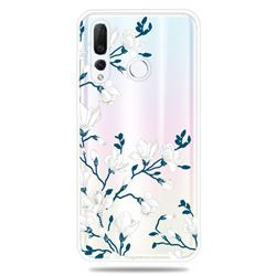 Magnolia Flower Clear Varnish Soft Phone Back Cover for Huawei nova 4