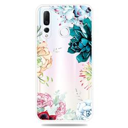 Gem Flower Clear Varnish Soft Phone Back Cover for Huawei nova 4
