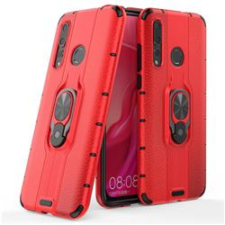 Alita Battle Angel Armor Metal Ring Grip Shockproof Dual Layer Rugged Hard Cover for Huawei nova 4 - Red