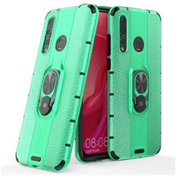Alita Battle Angel Armor Metal Ring Grip Shockproof Dual Layer Rugged Hard Cover for Huawei nova 4 - Green