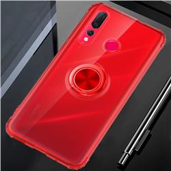 Anti-fall Invisible Press Bounce Ring Holder Phone Cover for Huawei nova 4 - Noble Red