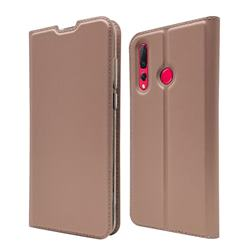 Ultra Slim Card Magnetic Automatic Suction Leather Wallet Case for Huawei nova 4 - Rose Gold