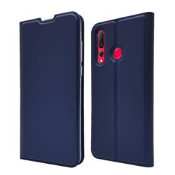 Ultra Slim Card Magnetic Automatic Suction Leather Wallet Case for Huawei nova 4 - Royal Blue