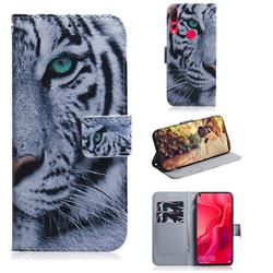 White Tiger PU Leather Wallet Case for Huawei nova 4