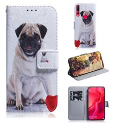 Pug Dog PU Leather Wallet Case for Huawei nova 4