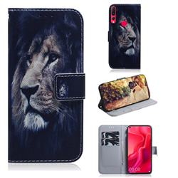Lion Face PU Leather Wallet Case for Huawei nova 4