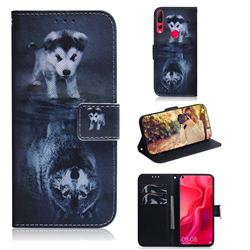 Wolf and Dog PU Leather Wallet Case for Huawei nova 4