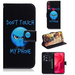 Not Touch My Phone PU Leather Wallet Case for Huawei nova 4