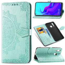 Embossing Imprint Mandala Flower Leather Wallet Case for Huawei nova 4 - Green