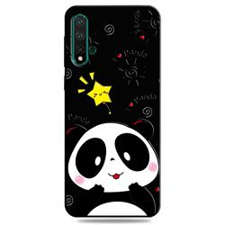 Cute Bear 3D Embossed Relief Black TPU Cell Phone Back Cover for Huawei Nova 5 / Nova 5 Pro