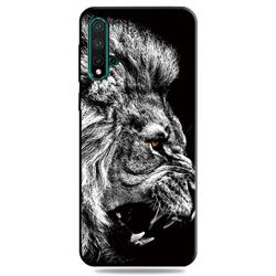Lion 3D Embossed Relief Black TPU Cell Phone Back Cover for Huawei Nova 5 / Nova 5 Pro