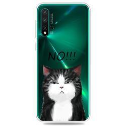 Cat Say No Clear Varnish Soft Phone Back Cover for Huawei Nova 5 / Nova 5 Pro
