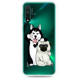 Selfie Dog Clear Varnish Soft Phone Back Cover for Huawei Nova 5 / Nova 5 Pro