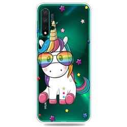 Glasses Unicorn Clear Varnish Soft Phone Back Cover for Huawei Nova 5 / Nova 5 Pro