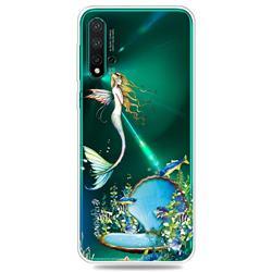 Mermaid Clear Varnish Soft Phone Back Cover for Huawei Nova 5 / Nova 5 Pro