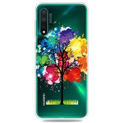 Oil Painting Tree Clear Varnish Soft Phone Back Cover for Huawei Nova 5 / Nova 5 Pro