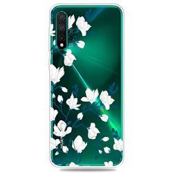 Magnolia Flower Clear Varnish Soft Phone Back Cover for Huawei Nova 5 / Nova 5 Pro