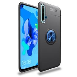 Auto Focus Invisible Ring Holder Soft Phone Case for Huawei Nova 5 / Nova 5 Pro - Black Blue