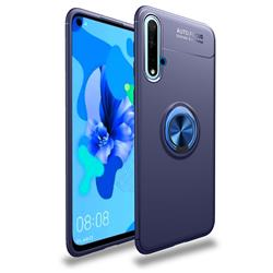 Auto Focus Invisible Ring Holder Soft Phone Case for Huawei Nova 5 / Nova 5 Pro - Blue
