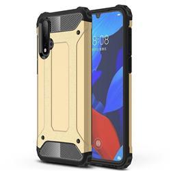 King Kong Armor Premium Shockproof Dual Layer Rugged Hard Cover for Huawei Nova 5 / Nova 5 Pro - Champagne Gold