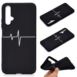 Electrocardiogram Chalk Drawing Matte Black TPU Phone Cover for Huawei Nova 5 / Nova 5 Pro