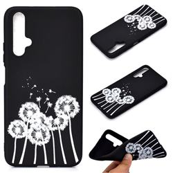 Dandelion Chalk Drawing Matte Black TPU Phone Cover for Huawei Nova 5 / Nova 5 Pro