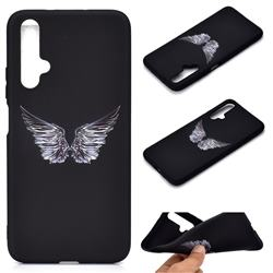 Wings Chalk Drawing Matte Black TPU Phone Cover for Huawei Nova 5 / Nova 5 Pro