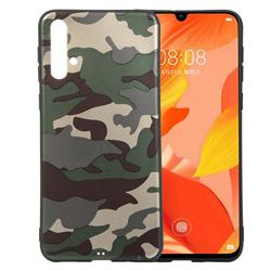 Camouflage Soft TPU Back Cover for Huawei Nova 5 / Nova 5 Pro - Gold Green