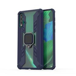 Predator Armor Metal Ring Grip Shockproof Dual Layer Rugged Hard Cover for Huawei Nova 5 / Nova 5 Pro - Blue