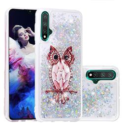 Seashell Owl Dynamic Liquid Glitter Quicksand Soft TPU Case for Huawei Nova 5 / Nova 5 Pro