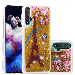 Golden Tower Dynamic Liquid Glitter Quicksand Soft TPU Case for Huawei Nova 5 / Nova 5 Pro