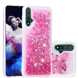 Dynamic Liquid Glitter Quicksand Sequins TPU Phone Case for Huawei Nova 5 / Nova 5 Pro - Rose