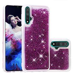 Dynamic Liquid Glitter Quicksand Sequins TPU Phone Case for Huawei Nova 5 / Nova 5 Pro - Purple