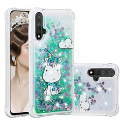 Tiny Unicorn Dynamic Liquid Glitter Sand Quicksand Star TPU Case for Huawei Nova 5 / Nova 5 Pro