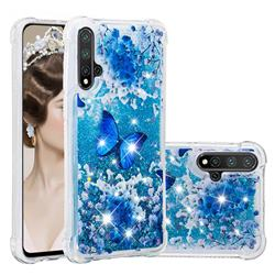 Flower Butterfly Dynamic Liquid Glitter Sand Quicksand Star TPU Case for Huawei Nova 5 / Nova 5 Pro