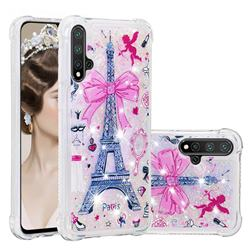 Mirror and Tower Dynamic Liquid Glitter Sand Quicksand Star TPU Case for Huawei Nova 5 / Nova 5 Pro