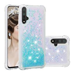 Dynamic Liquid Glitter Sand Quicksand TPU Case for Huawei Nova 5 / Nova 5 Pro - Silver Blue Star