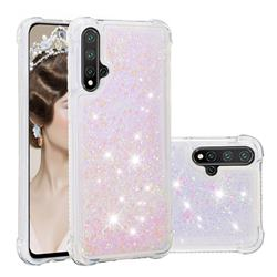 Dynamic Liquid Glitter Sand Quicksand Star TPU Case for Huawei Nova 5 / Nova 5 Pro - Pink