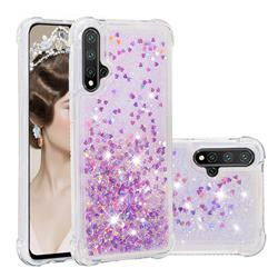 Dynamic Liquid Glitter Sand Quicksand Star TPU Case for Huawei Nova 5 / Nova 5 Pro - Rose