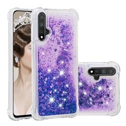 Dynamic Liquid Glitter Sand Quicksand Star TPU Case for Huawei Nova 5 / Nova 5 Pro - Purple