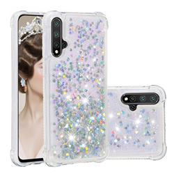 Dynamic Liquid Glitter Sand Quicksand Star TPU Case for Huawei Nova 5 / Nova 5 Pro - Silver