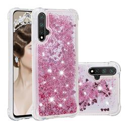 Dynamic Liquid Glitter Sand Quicksand Star TPU Case for Huawei Nova 5 / Nova 5 Pro - Diamond Rose