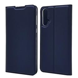 Ultra Slim Card Magnetic Automatic Suction Leather Wallet Case for Huawei Nova 5 / Nova 5 Pro - Royal Blue