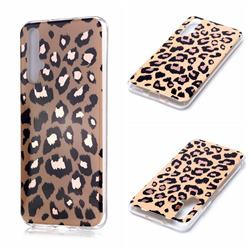 Leopard Galvanized Rose Gold Marble Phone Back Cover for Huawei nova 5T
