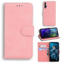 Retro Classic Skin Feel Leather Wallet Phone Case for Huawei nova 5T - Pink