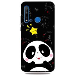 Cute Bear 3D Embossed Relief Black TPU Cell Phone Back Cover for Huawei nova 5i