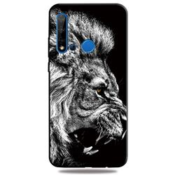 Lion 3D Embossed Relief Black TPU Cell Phone Back Cover for Huawei nova 5i