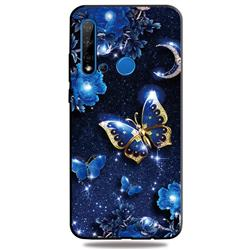 Phnom Penh Butterfly 3D Embossed Relief Black TPU Cell Phone Back Cover for Huawei nova 5i
