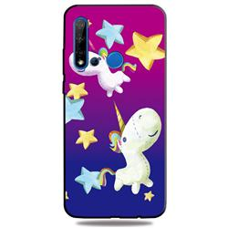 Pony 3D Embossed Relief Black TPU Cell Phone Back Cover for Huawei nova 5i